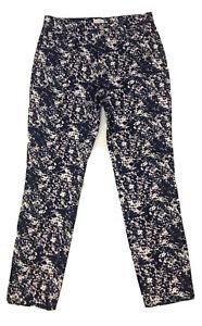 Sportscraft Blue Patterned Cotton Jeans Pants Size 10
