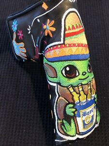 NEW PATRICK GIBBONS BABY YODA CINCO DE MAYO Blade putter headcover