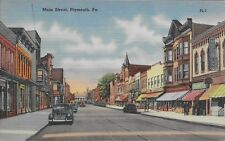 Main Street, Plymouth PA handsome postcard unused Luzerne County