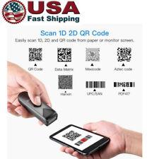 Eyoyo Mini Bluetooth Barcode Scanner 1D 2D QR PDF417 Data Matrix Image Reader