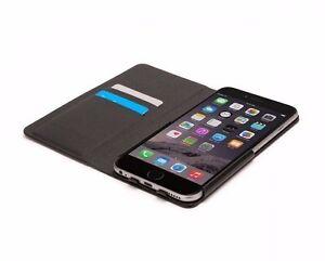 Griffin Wallet Flip Case Cover For iPhone 6S Plus 6 Plus Black -Card/Money Slots