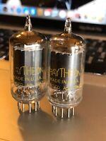 Pair (2) Raytheon 5686 Vacuum Tubes ~ TEST STRONG