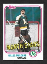 1981-82  TOPPS HOCKEY , # 109 West , GILLES MELOCHE , MINNESOTA NORTH STARS