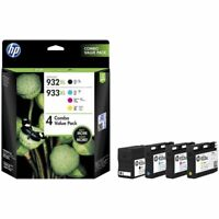 Genuine HP 932XL Black 933XL Cyan Magenta Yellow 4 Ink Combo Value Pack T0A80AA