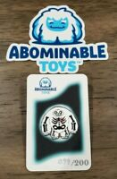 Abominable Toys - Limited Edition Skeleton Chomp Glow Enamel Pin In Hand LE 200
