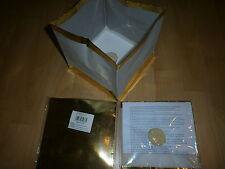 12 Wasserlaterne - gold - Wasserlampion mit Teelicht Papierlaterne 15 cm