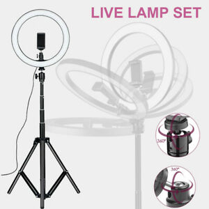 "18"" LED Ringlicht 48cm Ringleuchte Make-up Lampe Dimmbar 48W Fotolicht 200cm"