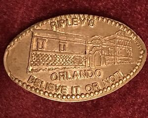 RIPLEY's BELIEVE IT or NOT! ORLANDO Elongated Penny Smashed Coin Ripely Beleive
