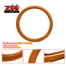 "Camel - Brown PU Leather 14.5-15""  Car Steering Wheel Cover Vehicle Anti-slip"