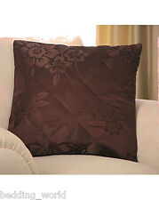 Quilted Filled Cushion Primrose Chocolate Brown Floral Decorative Zip Scatter