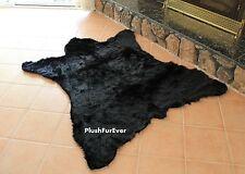 black california bear lodge cabin cottage decor bearskin faux fur