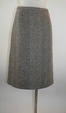 Tuzzi Rock 36 schwarz weiss Webmuster aus reiner Wolle wie neu skirt jupe