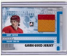 GARY SUTER 10/11 Decades 1980s Game-Used Jersey Trophy Winners #TWJ-18 Flames