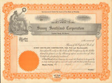 Sunny Southland Corporation /> 1925 Miami Florida stock certificate share
