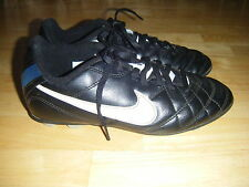 Boys NIKE Hard Ground Soccer Baseball Football Leather Lace Cleats Shoes Sz 4 Y