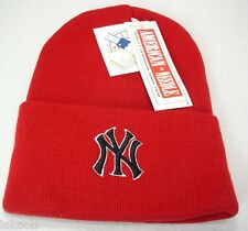 New York Yankees Official licensed Baseball Knit Beanie Hat Red One Size fit