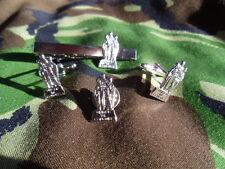 Spean Bridge Marine Commando memorial Cufflink / Tie slide/ lapel pin  RM (Silv)
