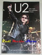 BOOK LIBRO U2 tutti i testi con traduzione GIUNTI 2001 bono vox lp dvd cd mc (*)
