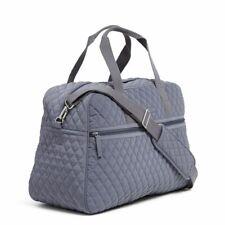Vera Bradley Medium Traveler Carry on Weekender Bag Carbon Gray Tag
