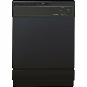Hotpoint Front Control Dishwasher in Black, 64 dBA