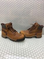 Wolverine ICS Gear Brown Leather Lace Up Waterproof EH Work Boots Men's 10.5 M