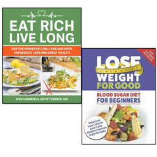 Blood Sugar Diet and Eat Rich, Live Long 2 Books Set  Low-Carb & Keto for Weight