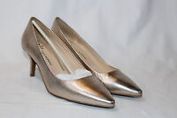 Isaac Mizrahi 9 medium champagne Leather Pointed Toe Pumps