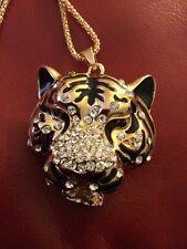 Betsey Johnson Large Tiger Bubble Head Pendant
