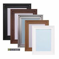 Photo Frame Picture Poster Frame Black Oak White Pewter Swept A1 A2 A3 A5 Frames