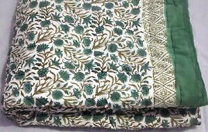Floral Block Printed Reversible Bedding Handmade Home Decor Cotton Jaipuri Razai