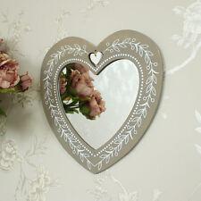 En bois floral cœur miroir mural shabby vintage chic chambre girly cadeau maison