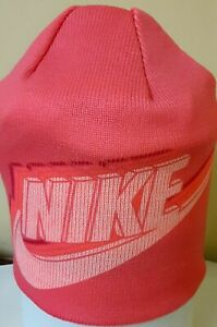 AUTHENTIC NIKE REVERSIBLE PINK KNIT BEANIE HAT 927229-614