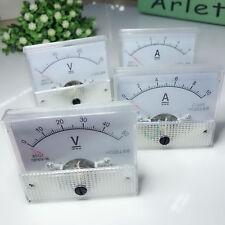 Analog Panel Amp Meter Voltmeter Gauge 85c1 Gb7676 Dc 0 30v50v 0 5a10a Ss0527