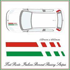 FIAT PUNTO ITALIAN RACING BONNET STRIPES - FIT THE BEST!  DESIGNER STRIPES