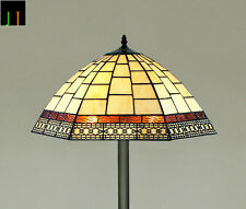 "EASTER SPECIAL - 16"" JT Tiffany Valley Forge Stained Glass Floor Lamp"