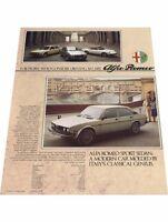1978 Alfa Romeo Spider Veloce GTV6 and Alfetta Original Car Sales Brochure