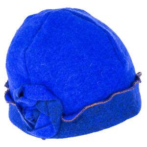 Symphony Fashions Pippa Pull On Wool Cloche - Cobalt