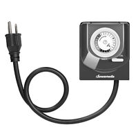 DEWENWILS Outdoor Light Timer with 2ft Long Cord Waterproof Timer Outlet HOMT11B