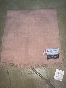 NWT Men's Sanger Harris Dallas Winter Scarf Brown Tan 100% Merino Wool New