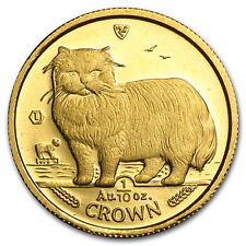 Isle of Man 1/10 oz Gold Cat BU/Proof (Random) - SKU #11206