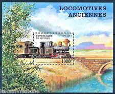 Railways, Train, Baldwin Locomotive Works, Guinea 1997 MNH SS  (T1n)