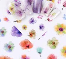 3D Nail Art Sticker E360 Multi Color Ink Flower Decals Manicure Peel & Stick DIY