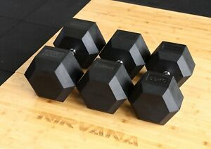 Nirvana Tech  1KG-60KG Rubber Hex Dumbbell Fitness Gym Strength Weight