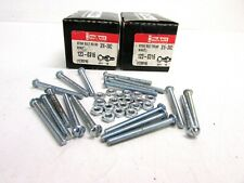 "LOT OF (36) PIK-A-NUT 3/16-24 X 2"" SLOTTED ROUND HEAD STOVE BOLT W/NUT #123-0316"