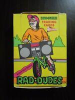 1990 Pacific Rad Dudes Wax Box 36 Packs Damaged