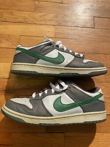 """2003 NIKE DUNK LOW """"TWISTED PREP"""" SIZE 12 VINTAGE  RARE AIR GREEN  Grey SB"""