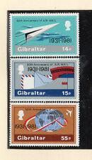 Gibraltar 50 aniversario Correo Aéreo serie del año 1981 (CU-761)