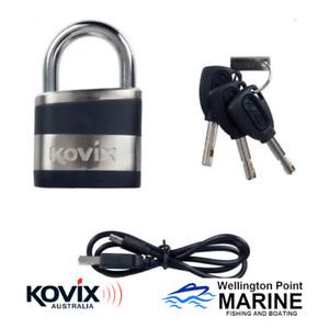Kovix Alarmed Pad Lock - BLA 215208 - Boat - Trailer