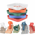 Coin Counters Tubes & Coin Sorters Tray – 5 Color-Coded Coin Sorting Tray and 5