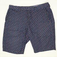 J Crew Mens Club Shorts 32 Blue Calico Floral Print Cotton Casual Summer